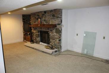Family Room - LL (Stone Fireplace) of 1215 Maben Avenue