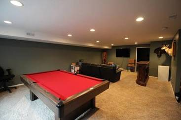 Lower level family room of 2035 Country Club Drive